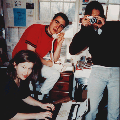 in the office at Teen-Beat 97 (1992 or '93) Photo by Erin Smith