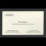Teen-Beat Business Card Phil Krauth