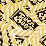 Teen-Beat adhesive sticker seventh edition, yellow stripes