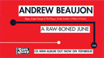 ANDREW BEAUJON A Raw-Boned June business card-size advertisement