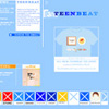 Teen-Beat website re-design