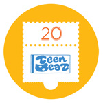 Teen-Beat 20th Anniversary badge pin 1