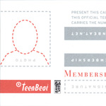 Teen-Beat Membership Card