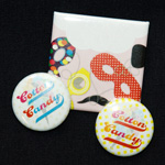 COTTON CANDY three badges