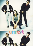 Unrest 2010 tour postcard front