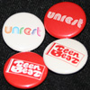 UNREST Teen-Beat badge pin