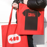 Teen-Beat tote bag black