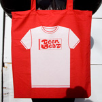 Teen-Beat tote bag white