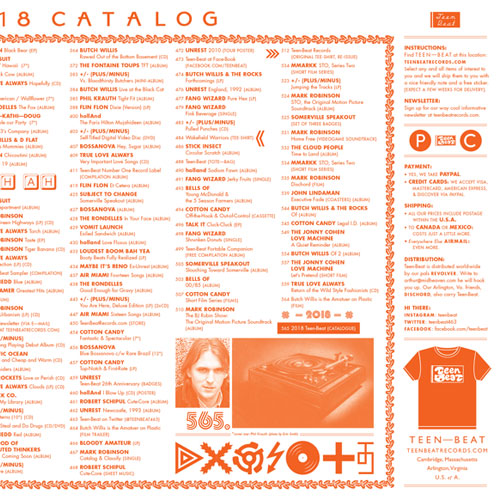 2018 Teen-Beat catalogue
